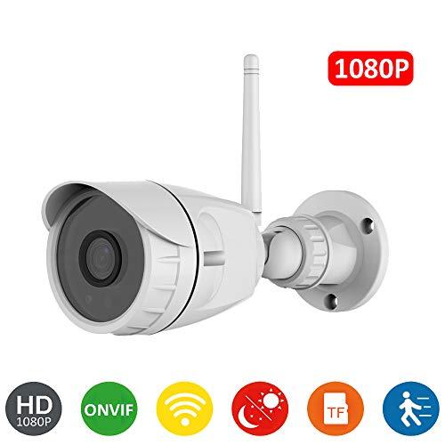 Cámara IP WiFi HD 1080P DIYtech C20P, Vigilancia, Seguridad, Detección Movimiento, visión Nocturna, Compatible iOS y Android. (P2P, 1080p, ONVIF)