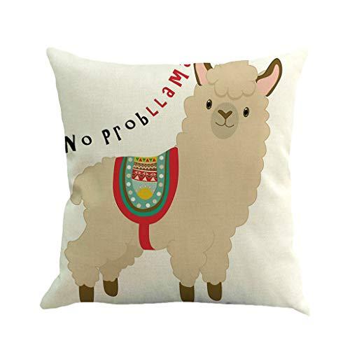 Sylar Funda de Almohada decoración Impresión de Alpaca de Dibujos Animados Lindo para hogar,Fundas para Cojines de Sofa,Funda de Almohada Decorativa