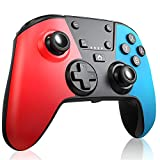 RegeMoudal Wireless Controller für Switch, Bluetooth Joypad Gamepad Fernbedienung für Switch Pro, PC, Unterstützung für Gyro-Achse, Turbo, Motion Control und Double Vibration