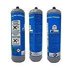FILTRIACQUAITALIA Lotto 3X Bombole CO2 600g Monouso per Gasatori Domestici E290
