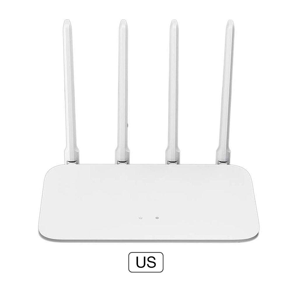 White 4A Dual Band AC1200 High Gain 4 Antenna WiFi Repeater Network Extender Lorchwise Xiaomi Router for Home Office
