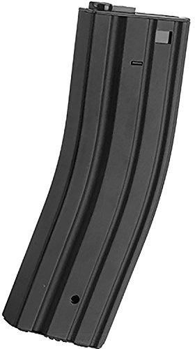 Evike - Matrix Full Metal 500rd Hi-Cap Magazine for Most M4 AEG Airsoft Rifles(Color: Black)