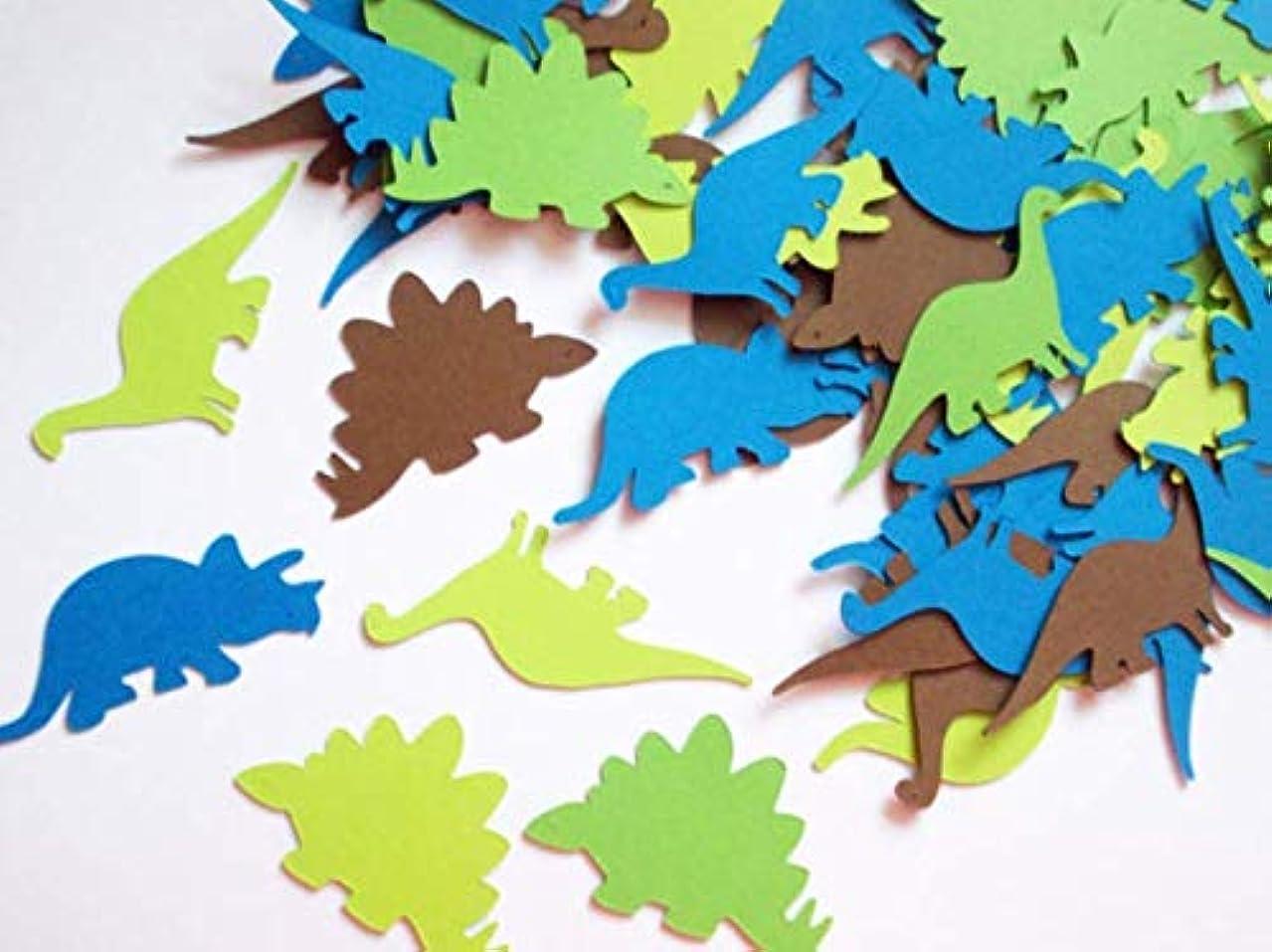 Astra Gourmet Dinosaur Paper Confetti Dino Theme Shape Cutouts Confetti for Wedding Baby Shower Birthday Table Confetti Party Supplies (100pcs)