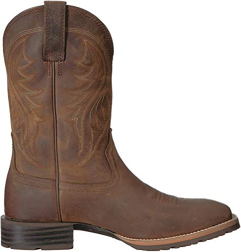 Ariat Men's Hybrid Rancher Western Boot, Distressed Brown, 10.5 E US