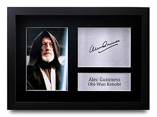 HWC Trading ALEC Guinness A4 Incorniciato Firmato Regalo Visualizzazione delle Foto Print Immagine Autografo Stampato per Star Wars Obi-WAN Kenobi Gli Appassionati di Cinema