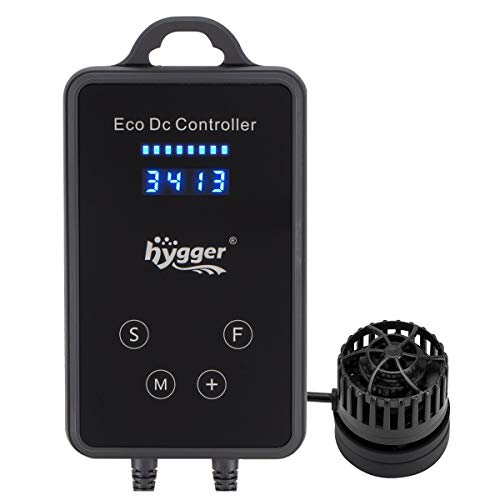 hygger 1600GPH Quiet DC 12V Wave Maker with Digital Led Display Controller, Aquarium Powerhead with Magnetic Mount, Submersible Water Inverter Circulation Pump for Fish Tank 3-25 Gallon