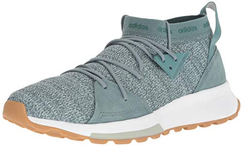 adidas Women's Quesa Running Shoe, raw Green/ash Green/ash Silver, 9 M US