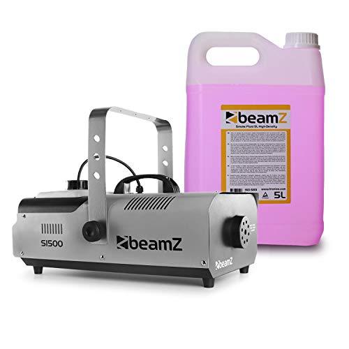 electronic star Beamz S1500 Máquina de Niebla Incl. 5 litros de líquido de Niebla 1500 W DMX