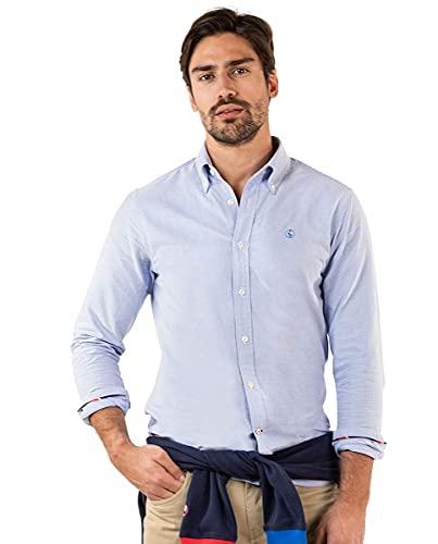 El Ganso Camisa Lisa Oxford Azul