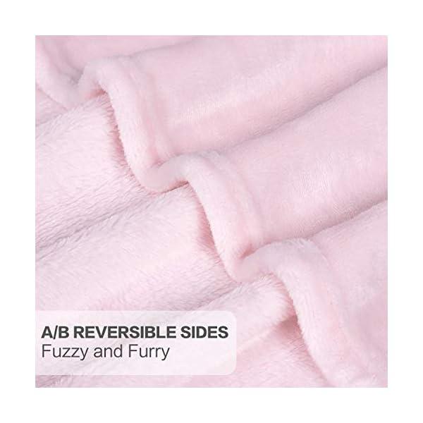 TILLYOU Micro Fleece Plush Baby Blanket Large Lightweight Crib Blanket for Toddler Bed, Super Soft Warm Kids Blanket for Daycare Preschool, Fluffy Fuzzy Flannel Nap Blanket Oversized, 40×50 Lt Pink