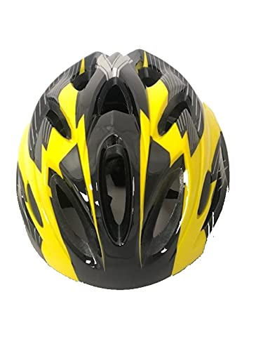 SHINE Unisex Cycling Helmet Adjustable Lightweight Bicycle Bike Mountain Road for Men and Women Removable Lid on front MEDIUM YELLOW