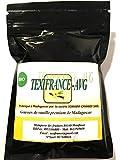 Vainilla Bourbon Madagascar-Polvo orgánico premium -40 gramos- 100% de vainas secas -Calidad Extra