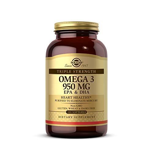 Solgar Omega 3 Triple concentración, Aceite de Pescado Concentrado de Aguas Frías...