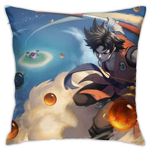 CVDGSAD - Funda de almohada de algodón estándar para hombre, diseño de balón de dragón de la isla Roshi, 45,7 x 45,7 cm