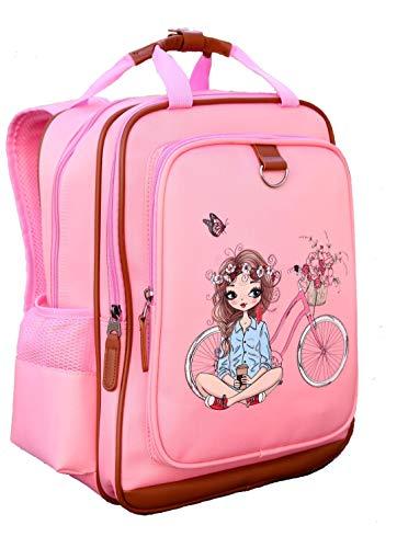 "Kids Backpack for Girls Backpack for School Water Repellent   Cute Backpacks for Elementary or Kindergarten   Pink School Bag 15"" School Backpack"