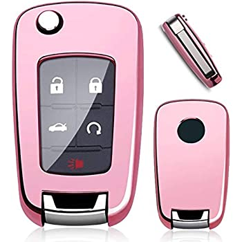 Rpkey Silicone Keyless Entry Remote Control Key Fob Cover Case protector For Buick Encore Enclave LaCrosse Regal Verano OHT01060512 Pink