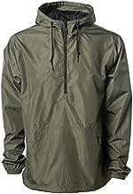 Windproof Lightweight Windbreaker Shell Jacket for Men and Women (Army Green, Small)