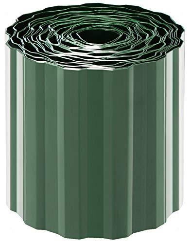 com-four® Bordo per Prato in Plastica - Bordatura da Giardino per Prato e Aiuola - Cordolo per Giardino - Lunghezza Personalizzabile