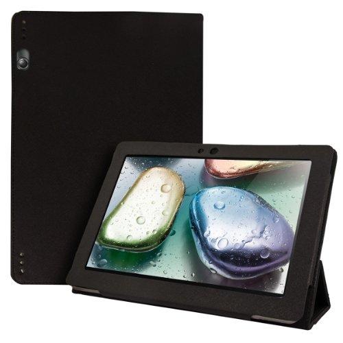 kwmobile Hülle kompatibel mit Lenovo IdeaTab S6000 - Slim Tablet Cover Hülle Schutzhülle mit Ständer Schwarz