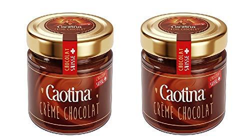 Caotina Crème Chocolat Brotaufstrich 2x300 g/Schokocreme / Schokoaufstrich/Schweizer Schokolade