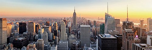 New York Skyline City Stadt XXL Panorama Wandtattoo Bild Poster Aufkleber W0050 Größe 300 cm x 100 cm