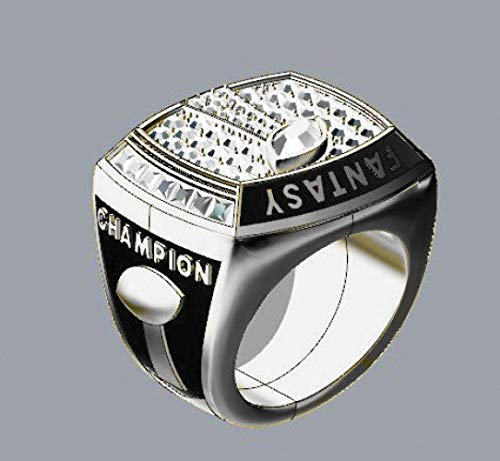 WEI Champion Ring Fan High-End-Kollektion Ring Fans Geschenk Dekoration Ring,Silber,Nummer13