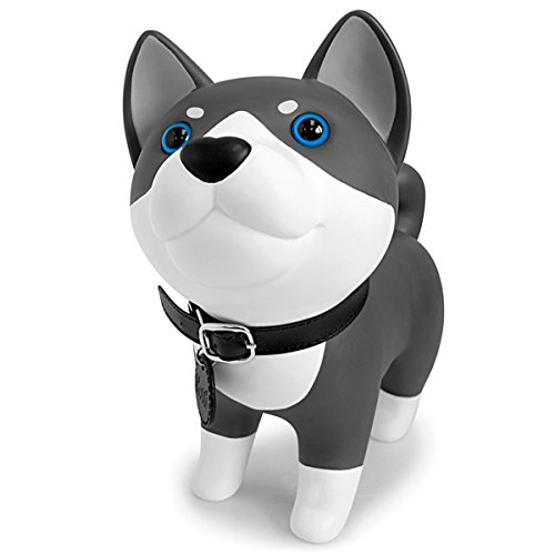 DomeStar Cute Dog Bank, Husky Coin Bank Kids Toy Bank Doggy Puppy Piggy Bank for Girls Boys