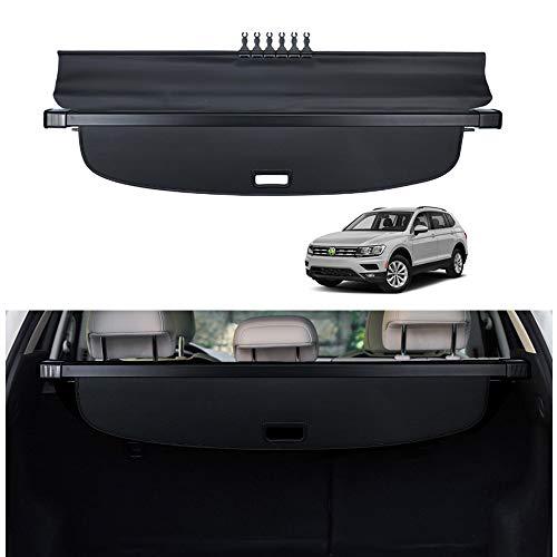 Powerty Fit for Cargo Cover VW Volkswagen Tiguan 2018 2019 2020 2021 2022 Retractable Rear Trunk Security Cover Shielding Shade Black No Gap