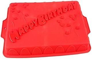 Moule en silicone happy birthday rouge obstbodenform moule à gâteau