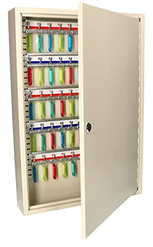KOTARBAU Armario de llaves para montaje en pared, 100 llaves con llaveros.
