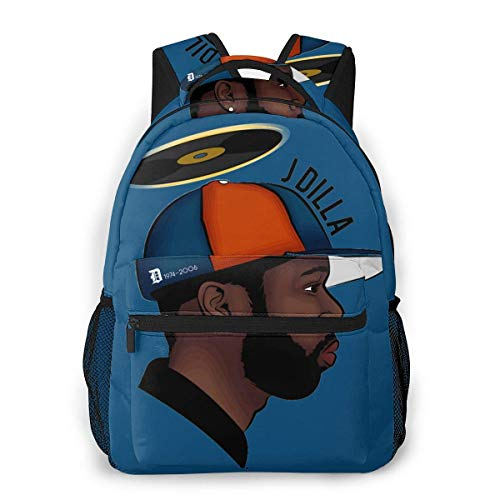 Lawenp Casual Backpack J Dilla Vector Art Casual Backpack,Backpack Gift for Men and Women,Multifunctional Backpack,Laptop Backpack