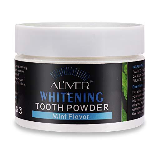 Teeth Whitening Poeder,Tanden Bleken Poeder,Natural Tanden Bleken Poeder Pepermuntsmaak-Thuis tanden bleken