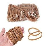 100 Stück Gummibänder, 100 mm x 5 mm Elastisch Gummibänder,Stark Wiederverwendbar Elastikbänder Gummiringerl für Büro, Zuhause, Schulbedarf (dunkelgelb)