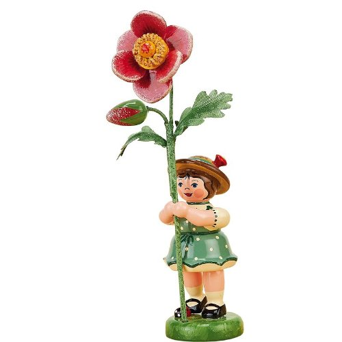 Hubrig Blumenmädchen 11cm Blumenkind mit Heckenrose
