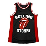 Rolling Stones Tongue Black/RED Basketball Jersey