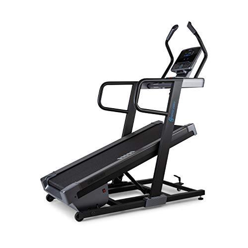 Capital Sports Challenger Tapis Roulant, Inclinazione Regolabile Elettronicamente Fino a 40°, Display LCD, Kinomap, Superficie: 46x140cm, velocità: 0,8-18km h, Sensori Battito, 13 Programmi, Nero