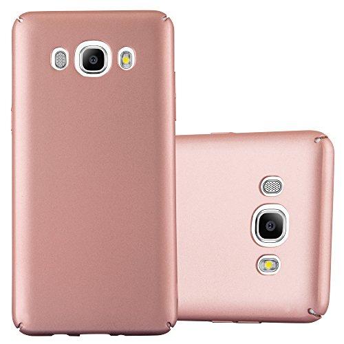Cadorabo Hülle für Samsung Galaxy J5 2016 (6) - Hülle in Metall Rose Gold – Hardcase Handyhülle im Matt Metal Design - Schutzhülle Bumper Back Case Cover