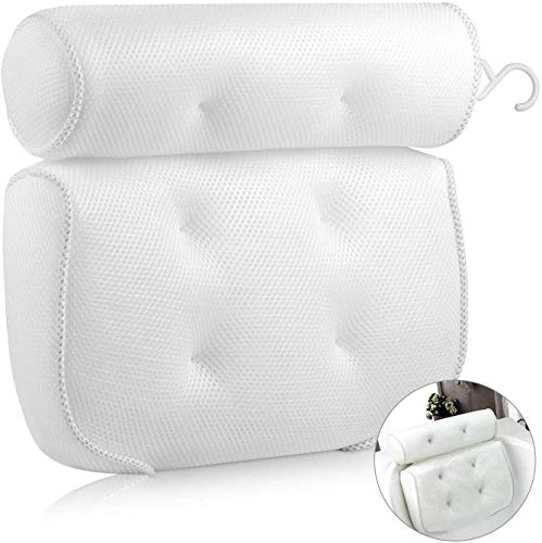 YANGMEI Bathroom Pillow Spa Bathtub Pillow con 4 Cups, Head, Neck, Back and Shoulder Soporte Bathtub Pillows, para tubos, jacuzzis y spas familiares