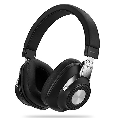 Active Noise Cancelling Bluetooth Headphones, Eleckey Wireless Over Ear Headphones with Microphone and Carrying Case for Travel