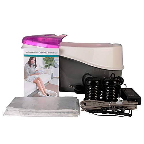 Vitaciti Ion Detox Machine Foot Bath Ionic Spa Cleanse Machine Plus Panel Control + Massager Tub Basin with 2 Arrays for Home Use Spa Club Salon