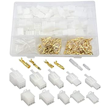 WMYCONGCONG 400 PCS 2.8mm 2 3 4 6 9 Pin Automotive Electrical Wire Connectors Pin Header Crimp Wire Terminals and 25 Kits 4mm Car Motorcycle Bullet Terminal Wire Connector