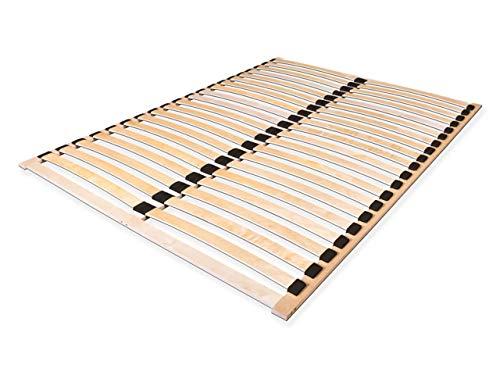 Lattenrost Alti Duo, Lattenrahmen für alle Matratzen, mit 2x20 stabilen und flexiblen Federholzleisten, zur Selbstmontage (160x200)