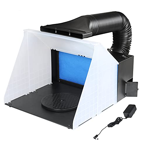 Ausuc スプレーブースセット エアーブラシシステム スプレーワーク ペインティングブース エアブラシ用 排気ダクト付き塗装ブース