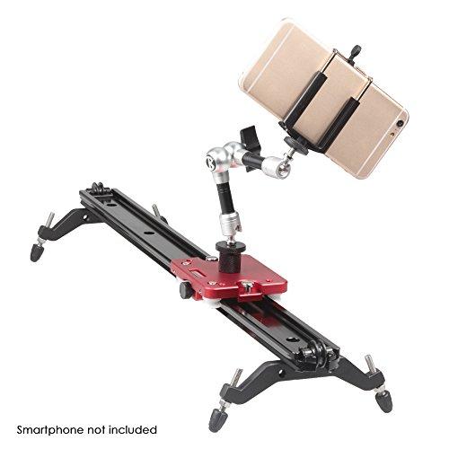 """KAMERAR Comb Deal: 47"""" Mark II Slider Video Stabilization System + 7"""" Friction Arm + Phone Mount for DSLR DV Camera SmartPhone"""