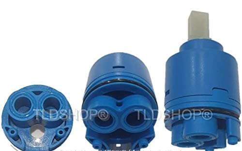 TLDSHOP - Cartuccia 35-40 mm di Ricambio per Miscelatore, Cartuccia a Dischi ceramici (40 mm)