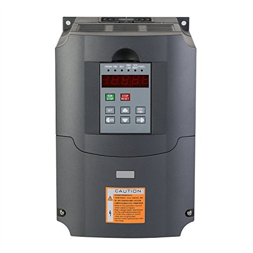 Buoqua Frequenzumrichter 4KW Variable Frequency Driver VFD 220V 5HP Professional Frequenzwandler Inverter Antrieb für Spindelmotor (4 kW)