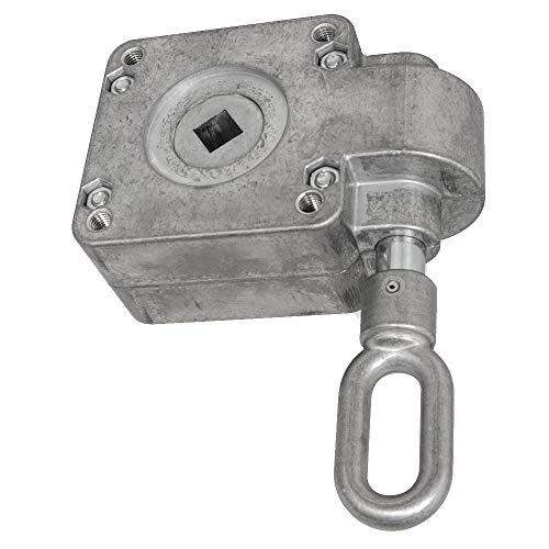 DIWARO.® | Schneckengetriebe für Markisen | Untersetzung 15:1 | blank | 13mm Innenvierkant | Markisengetriebe