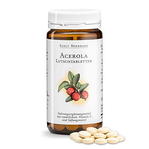 Sanct Bernhard Acerola-Lutschtabletten - 50mg Vitamin C pro Tablette 180 Tabletten