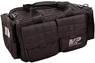 Smith & Wesson M&P Officer Tactical Range Bag with Weather Resistant Material for Shooting, Range, Storage and Transport , Black