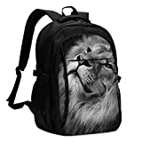 Art Lion Travel Laptop Backpack with USB Charging Port Durable School Business Computer Bag Daypack for Men Women